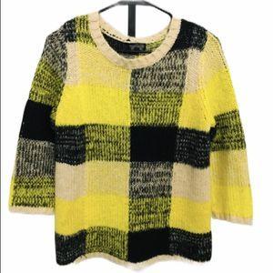 TOPSHOP Yellow Black Plaid Sweater 6
